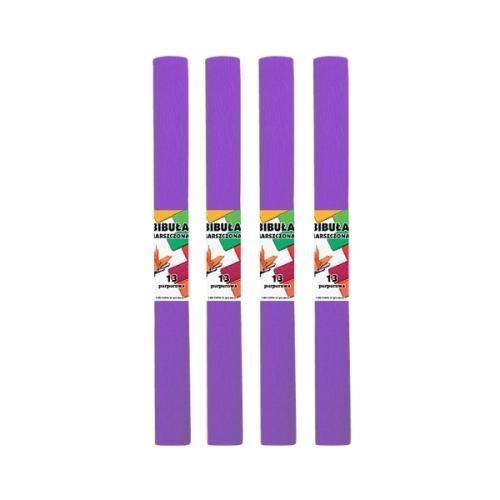Bibuła marszczona 13 purpurowa 10szt