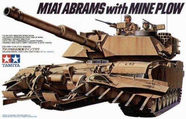 M1A1 Abrams W/Mine Plow (35158)