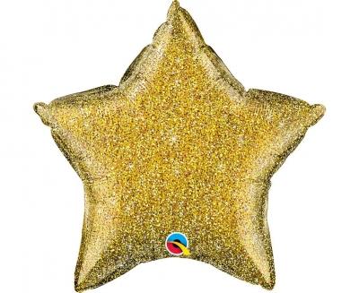 Balon foliowy Godan Gwiazda złota brokatowa 51 cm (88925)