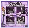 Łamigłówki metalowe 4 szt Puzzle mania fioletowy