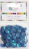 Cekiny okrągłe  10 G niebieskie