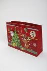 Torebka świąteczna 3D pozioma duża Święty Mikołaj