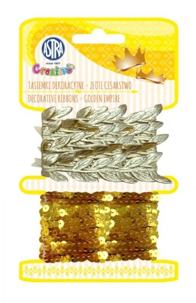 Tasiemki dekoracyjne Złote cesarstwo (335121001)
