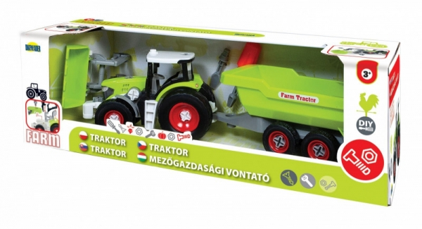 Pojazd Traktor do skręcania w pudełku (02715)