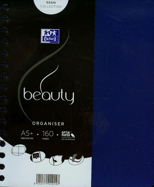 Kołonotatnik A5 Oxford beauty Organiser w kratkę 160 kartek niebieski
