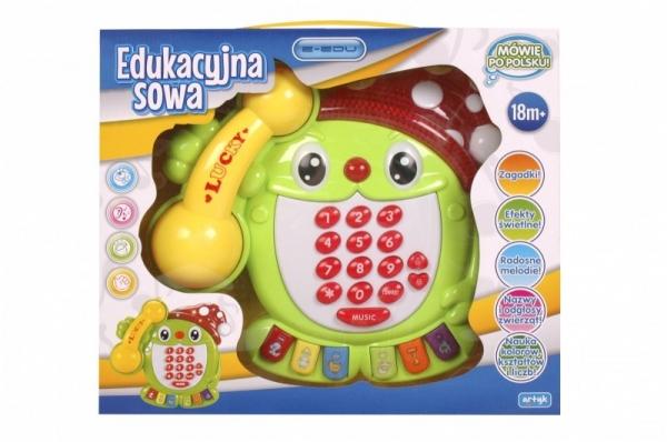 E-edu edukacyjny telefon Sowa (X-ED-PK0060)
