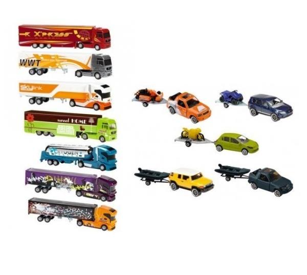 Pojazd z przyczepą, 12 rodzajów (212053150) (Uszkodzone opakowanie)