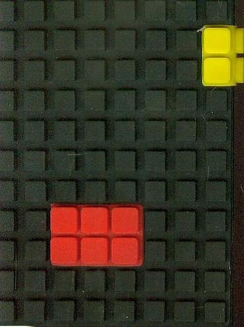 Notes silikonowy A7 Unipap Blocks w kratkę 60 kartek czarny