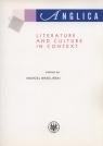 Anglica Literature and Culture in context