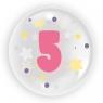 "Balon 45 cm - ""Cyfra 5"" różowy (TB 3615)"