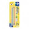 Ołówki pastelowe HB z miarką 4 sztuki + gumka i temperówka (206120007)