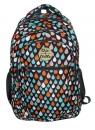 Plecak trzykomorowy Retro Krople CHIN&CHILLA