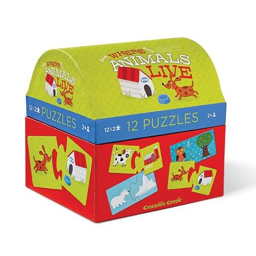 Puzzle Gdzie żyją zwierzątka? 12 (CC-2951-5)