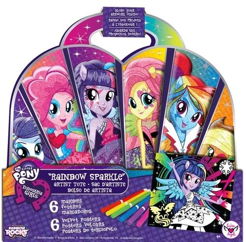 Equestria Girls Tęczowy zestaw artystyczny z teczką