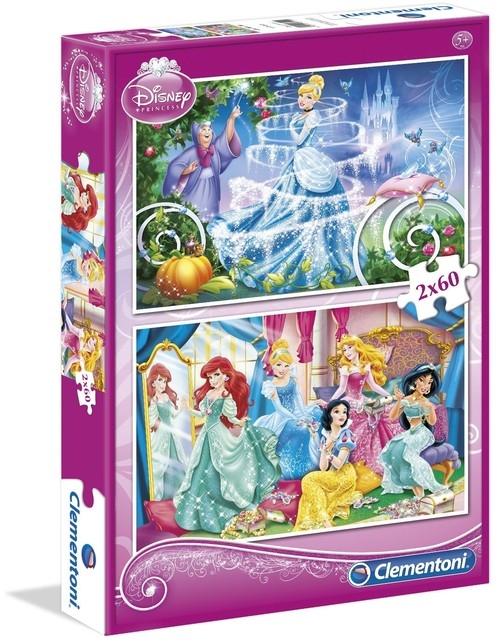 Puzzle Księżniczki 2x60 (07115)