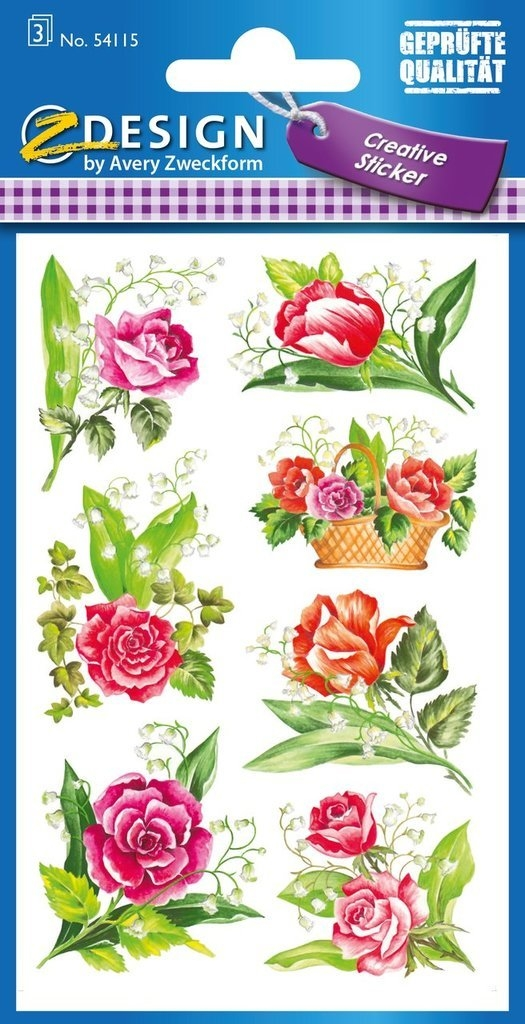 Naklejki kreatywne - kwiaty (54115)