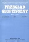 Przegląd Geofizyczny Rocznik LIV 2009 Zeszyt 3-4