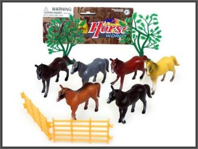 Figurki konie 6 szt. 10 cm