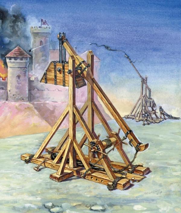 Plastikowy model do sklejania Średniowieczny Trebusz (8516)