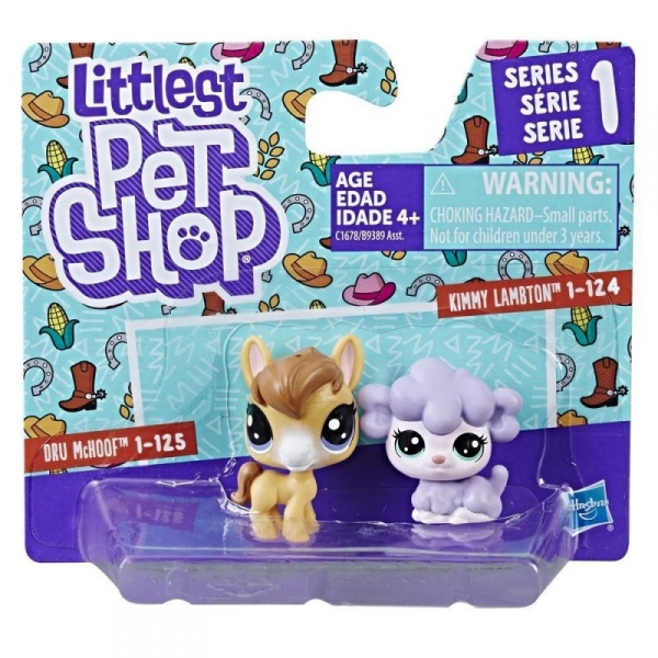 Littlest Pet Shop Dwupak, Lamb & Horse (B9389/C1678)