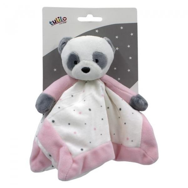 Przytulanka New baby Miluś różowy 25x25 cm (5137a)