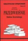 Biblioteczka Opracowań Przedwiośnie Stefana Żeromskiego