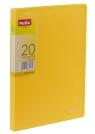 Teczka Clear Book A5 z 20 koszulkami, żółta
