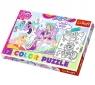 Puzzle 20 elementów Color Kucyki Pony w swojej krainie (36516)