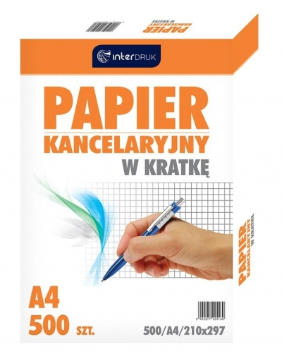 Papier kancelaryjny A4/500k, kratka (31058)