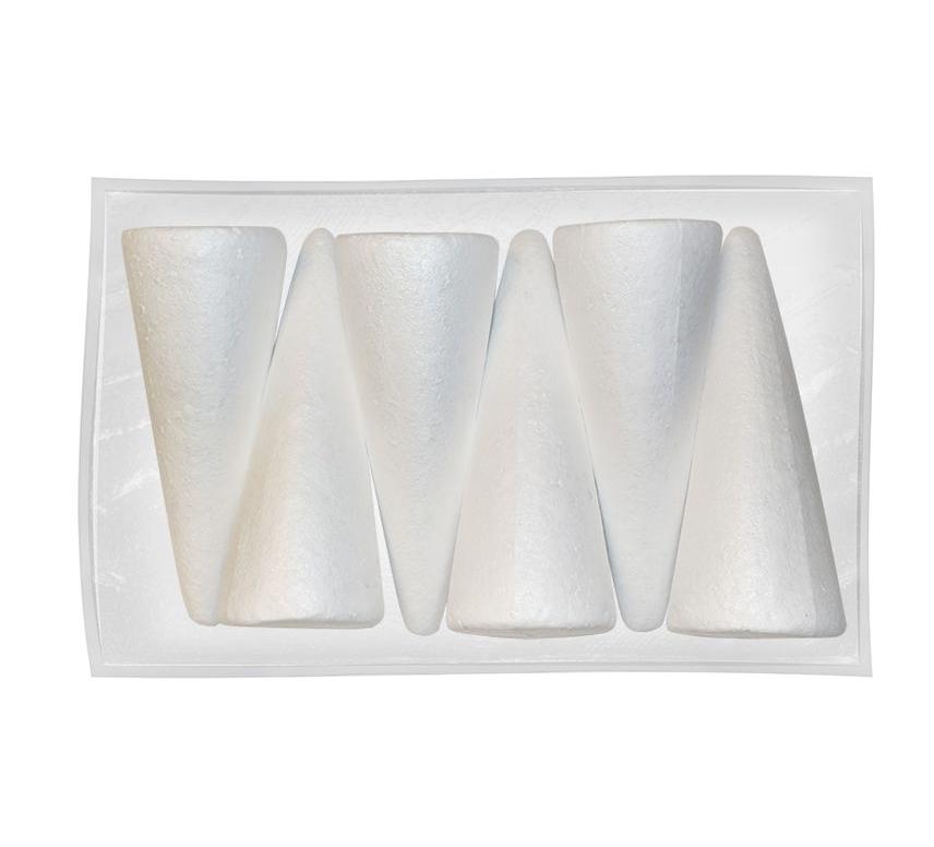 Ozdoba styropianowa Titanum Craft-Fun Series stożki 6 szt. (282945)