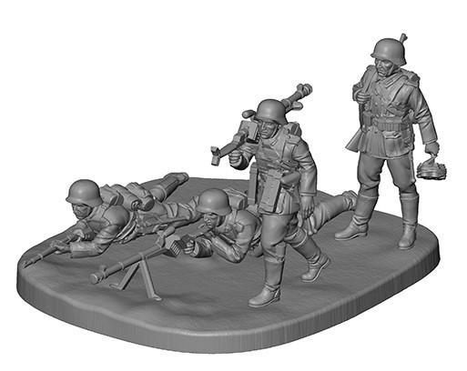 German Anti Tank Team WWII (6216)