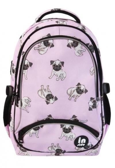 Plecak trzykomorowy różowy Buldog
