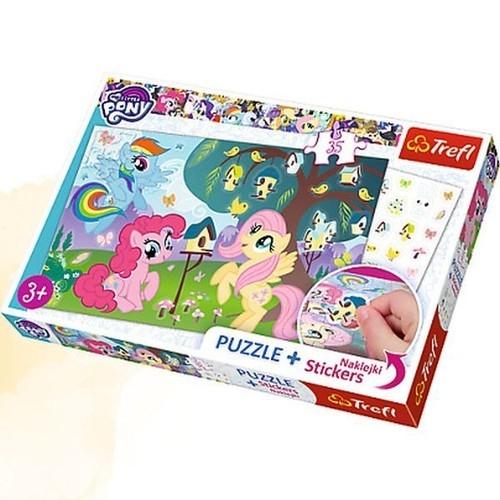 Puzzle Plus 35 elementów + Naklejki My Little Pony Kucyki i ptasie drzewo (75116)