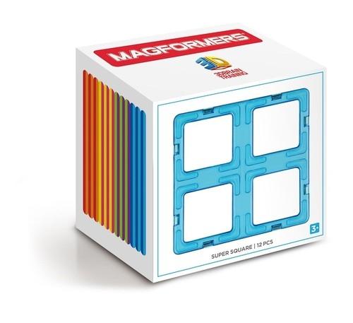 Klocki magnetyczne 3D Magformers Super kwadraty 12 elementów (713017)