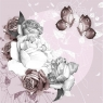 Karnet Swarovski kwadrat Kwiaty i motyle