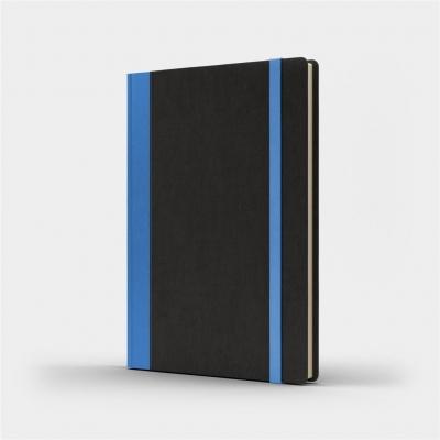Notatnik B5 Pro L kropki czarny/niebieski