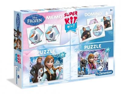 Superkit 2x30 elementów + Memo + Domino Kraina Lodu