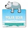 Zwierzęca zakładka do książki - Niedźwiedź polarny