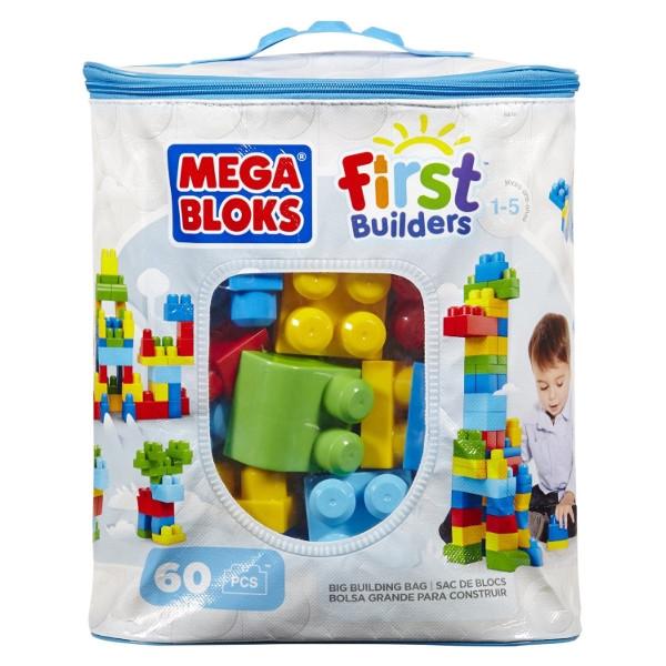 Mega Bloks: Klocki 60 elementow - niebieska torba(CYP67/DCH55)