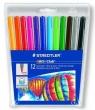 Flamastry jednostronne 12 kolorów w etui (S325WP12)
