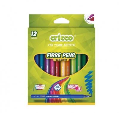 Flamastry Cricco, 12 kolorów (CR380K12)