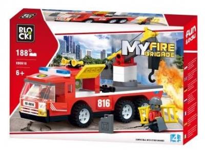 Klocki plastikowe Icom Blocki MyFire KB0816 (Wóz strażacki z hakiem holowniczym 188 el.)