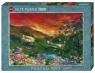Puzzle 1000 Chatka z zachodem słońca w tle