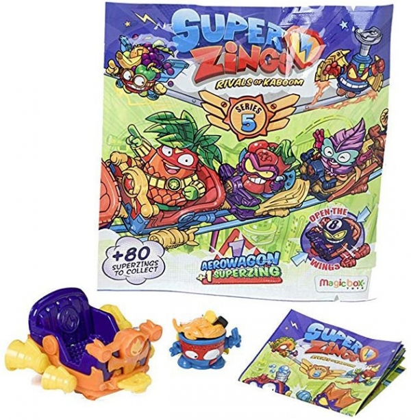 Super Zings seria 5 - Pojazd Aerowagon + figurka Superzings