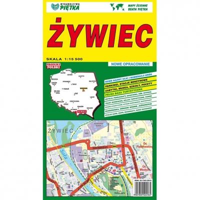 Plan miasta Żywiec Wydawnictwo Piętka