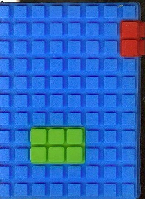 Notes silikonowy A7 Unipap Blocks w kratkę 60 kartek niebieski