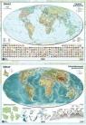 Mapa świata A2 Dwustronna laminowana (10szt)