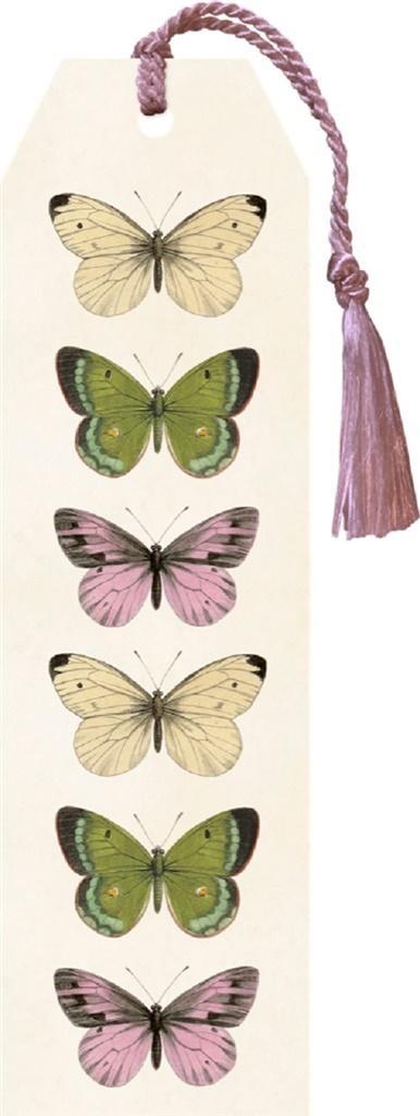 Zakładka 07 ze wstążką Motyle