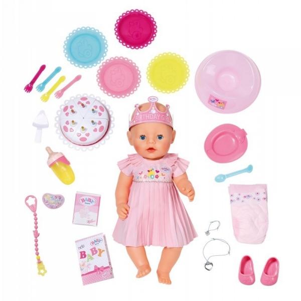 BABY BORN Lalka interaktywna urodzinowa (824054)