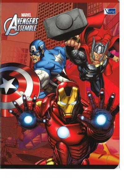 Zeszyt A5/16 trzy linie Avengers .